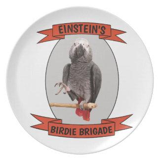 Assiette Perroquet de gris africain de brigade de birdie
