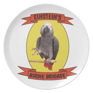 Assiette Perroquet de gris africain de brigade de birdie -