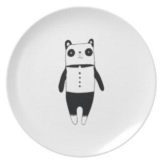 Assiette Petit panda noir et blanc