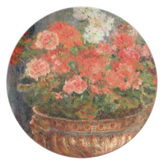 Assiette Pierre géraniums de Renoir un | dans un bassin de