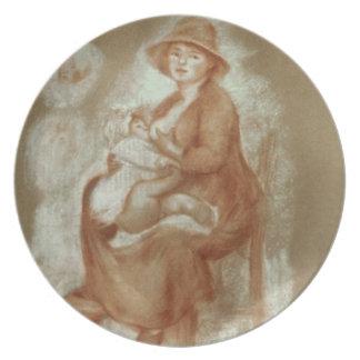 Assiette Pierre une maternité de Renoir |