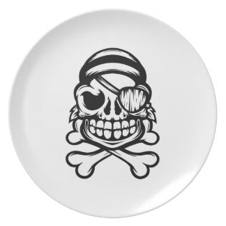 Assiette Pirate gai
