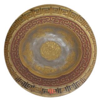 Assiette Plaque chinoise de fleur