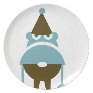Assiette Plat de dîner grincheux de gnome