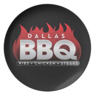 Assiette Plat de mélamine de BBQ de Dallas