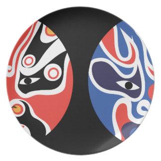Assiette Plat de mélamine de masque protecteur de Jitaku