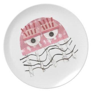 Assiette Plat de mélamine de peigne de méduses