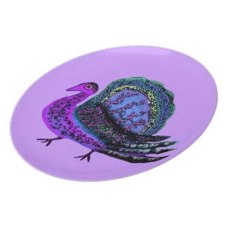 Assiette Plat décoratif de bleus de la Turquie