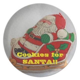 Assiette Plat du biscuit de Père Noël