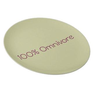 """Assiette Plate/Assiette """"Omnivore"""""""