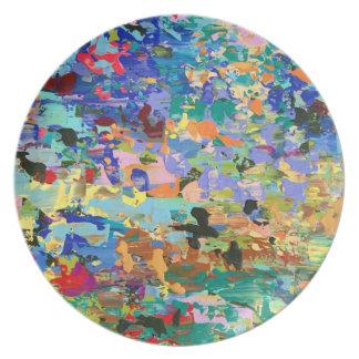Assiette Plats de mélamine d'art de Carolyn Joe