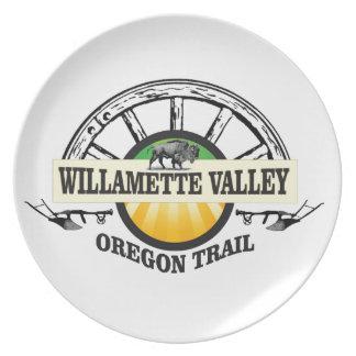 Assiette plus d'ot de vallée de willamette