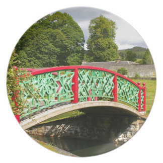 Assiette Pont chinois, jardins, Ecosse