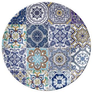 Assiette porcelaine Azulejos