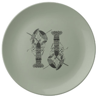 Assiette porcelaine HOMARDS