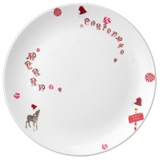 Assiette porcelaine Sweet Noel