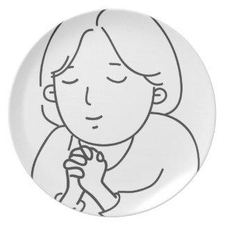 Assiette Prière