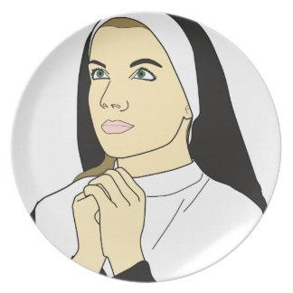 Assiette Prière de nonne