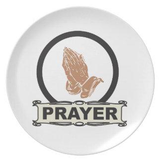 Assiette Prière simple