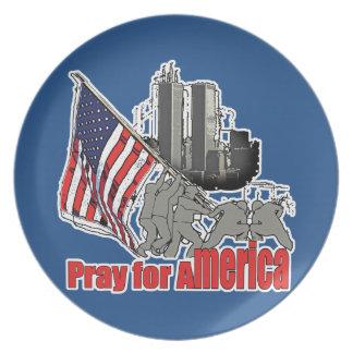 Assiette Priez pour l'Amérique