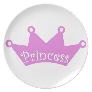 Assiette Princesse Tiara Crown