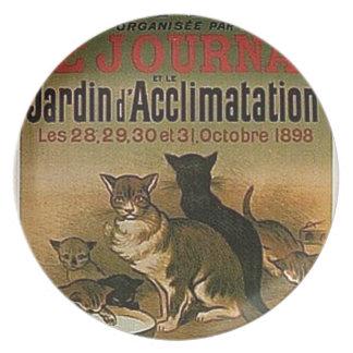 Assiette Publicité française vintage - chats