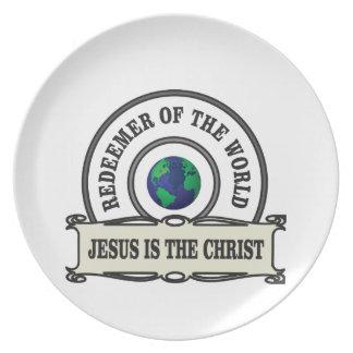 Assiette rédempteur de seigneur du monde