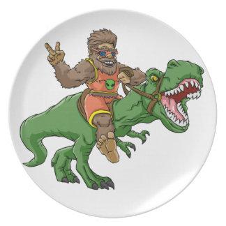 Assiette rex Bigfoot de rex-T de la Bigfoot-bande dessinée