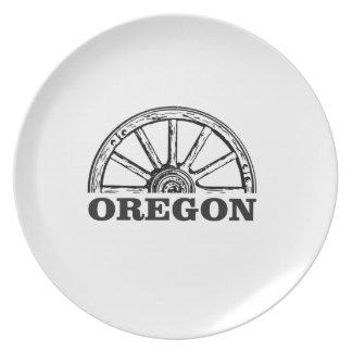 Assiette roue simple de traînée de l'Orégon