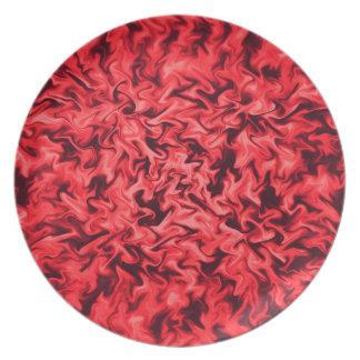 Assiette Rouge ardent