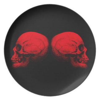 Assiette Rouge du profil X2 de crâne