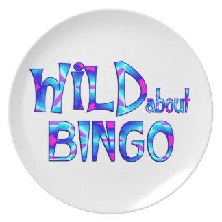 Assiette Sauvage au sujet du bingo-test