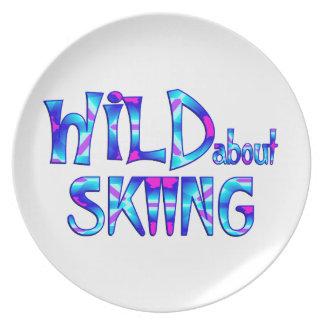 Assiette Sauvage au sujet du ski