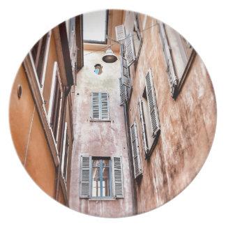 Assiette Scène de ville de l'Italien IMG_1785 2