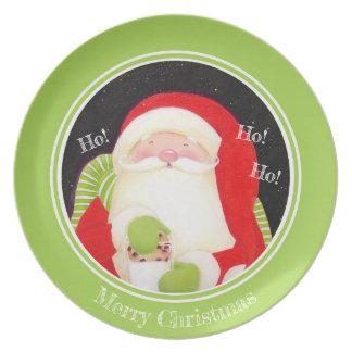 Assiette Soyez gai ! Plat classique de Noël de Père Noël