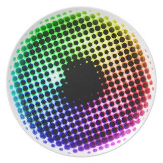 Assiette Spectre de couleur d'oeil de licorne d'iris