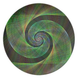 Assiette Spirale verte
