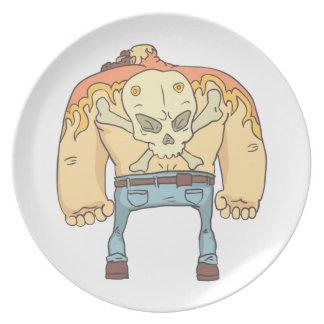 Assiette Style tatoué de bandes dessinées décrit par