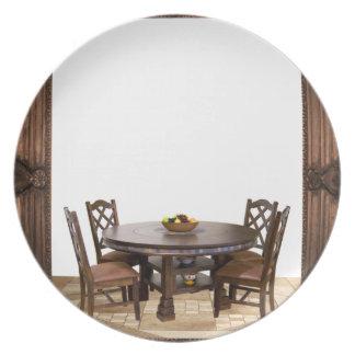 Assiette Tableau avec des chaises dans une conception de