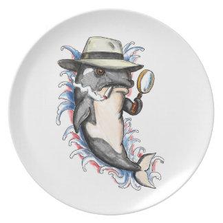 Assiette Tatouage révélateur d'épaulard d'orque