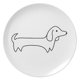 ASSIETTE TECKEL, HOT-DOG, CHIEN DE SAUCISSE, MIGNON,