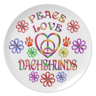 Assiette Teckels d'amour de paix