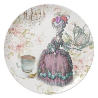 Assiette Thé floral français Marie Antoinette de Paris