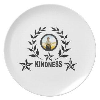 Assiette timbre noir de gentillesse