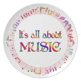 Assiette Tout au sujet de la musique