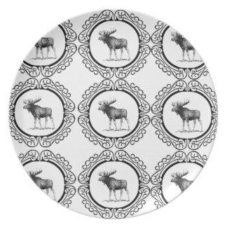 Assiette troupeau d'anneau d'orignaux