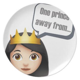 Assiette un prince à partir d'Emoji