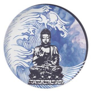 Assiette Vague d'eau profonde de Bouddha