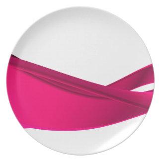 Assiette Vagues dynamiques roses