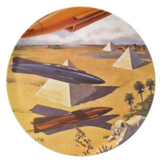 Assiette Vaisseaux spatiaux en Egypte